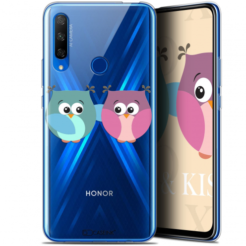 "Coque Gel Huawei Honor 9X (6.59"") Extra Fine Love - Hibous à deux"