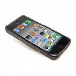 Visuel unique de Coque iPhone 5 Tpu Basics SLine Noire fumée
