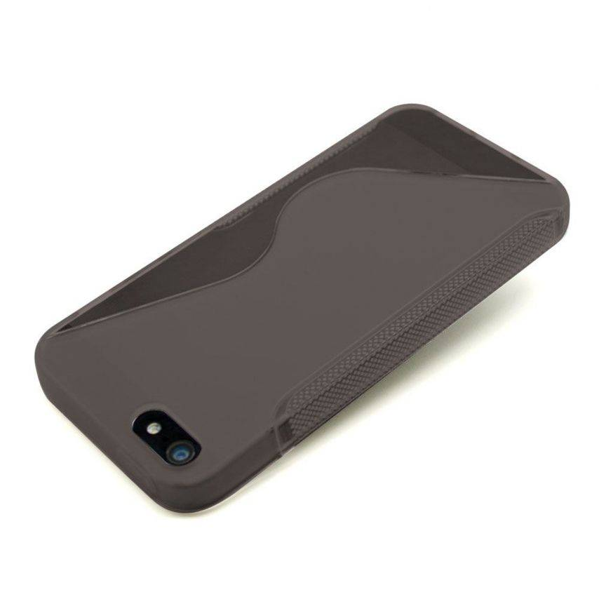 Visuel supplémentaire de Coque iPhone 5 Tpu Basics SLine Noire fumée