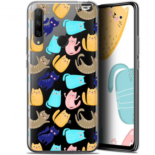 "Coque Gel Huawei Honor 9X (6.59"") Extra Fine Motif - Chat Danse"
