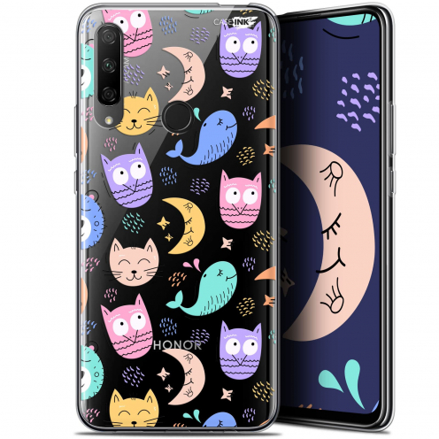 "Coque Gel Huawei Honor 9X (6.59"") Extra Fine Motif - Chat Hibou"