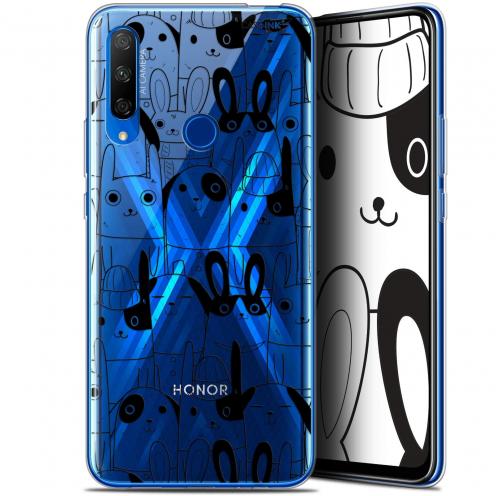 """Coque Gel Huawei Honor 9X (6.59"""") Extra Fine Motif - Lapin Noir"""