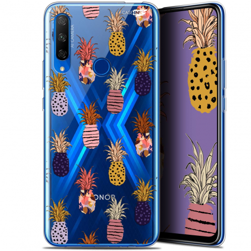 "Coque Gel Huawei Honor 9X (6.59"") Extra Fine Motif - Ananas Gold"