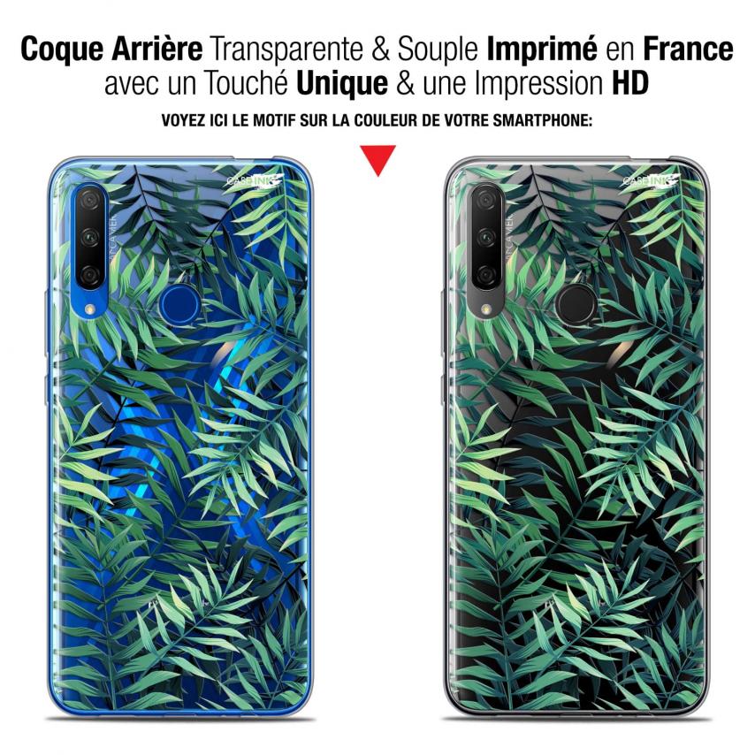 "Coque Gel Huawei Honor 9X (6.59"") Extra Fine Motif - Feuilles des Tropiques"