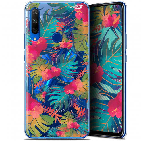 """Coque Gel Huawei Honor 9X (6.59"""") Extra Fine Motif - Couleurs des Tropiques"""
