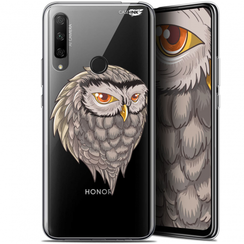 "Coque Gel Huawei Honor 9X (6.59"") Extra Fine Motif - Hibou Draw"