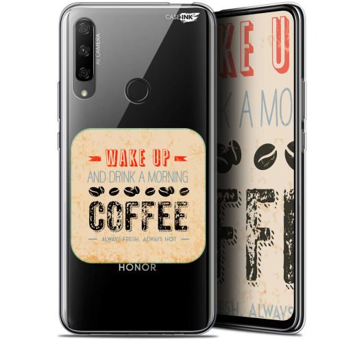 """Coque Gel Huawei Honor 9X (6.59"""") Extra Fine Motif - Wake Up With Coffee"""