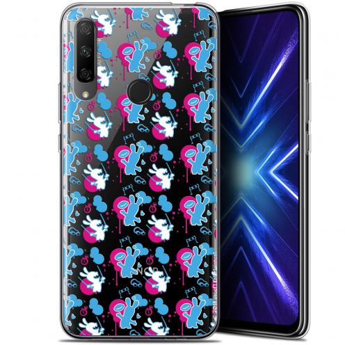 "Coque Gel Huawei Honor 9X (6.59"") Extra Fine Lapins Crétins™ - Rugby Pattern"