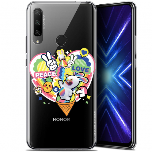 "Coque Gel Huawei Honor 9X (6.59"") Extra Fine Lapins Crétins™ - Peace And Love"