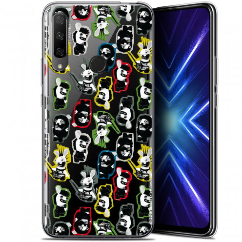 "Coque Gel Huawei Honor 9X (6.59"") Extra Fine Lapins Crétins™ - Punk Pattern"