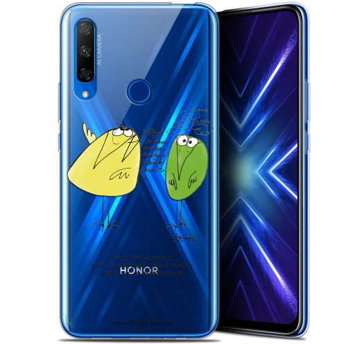 "Coque Gel Huawei Honor 9X (6.59"") Extra Fine Les Shadoks® - Le Dialogue"