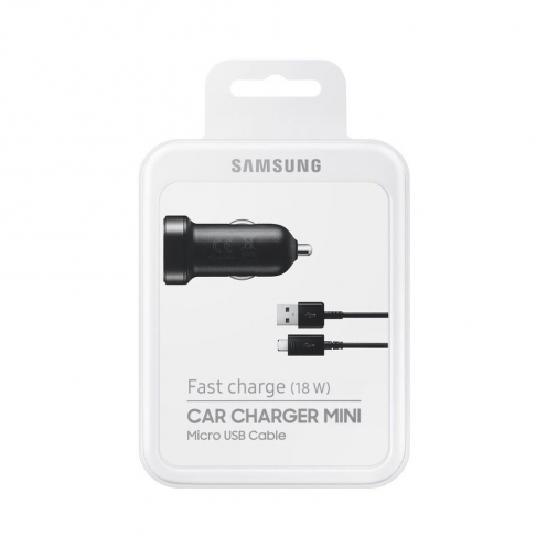 Chargeur Voiture d'Origine Samsung EP-LN930BBEGWW Micro USB 2A Noir blister