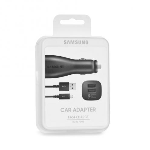 Chargeur Voiture d'Origine Samsung EP-LN920BB 2A 2x Micro USB Noir blister