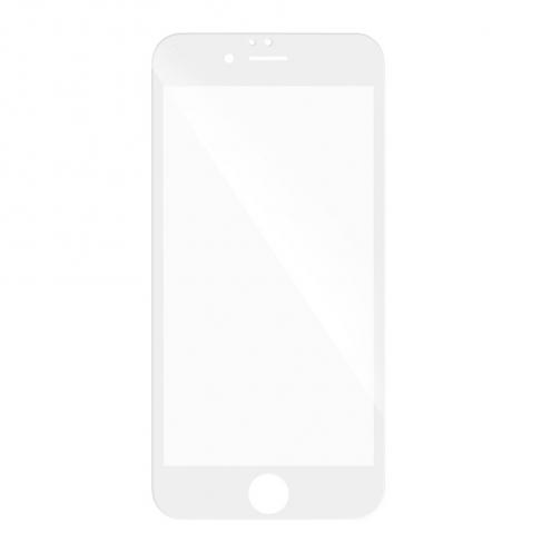 Verre trempé Intégral Full Glue 5D pour Samsung Galaxy A7 2018 Blanc