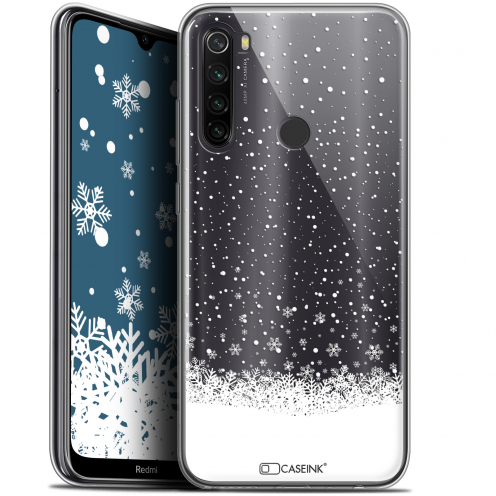 "Coque Gel Xiaomi Redmi Note 8T (6.3"") Extra Fine Noël 2017 - Flocons de Neige"