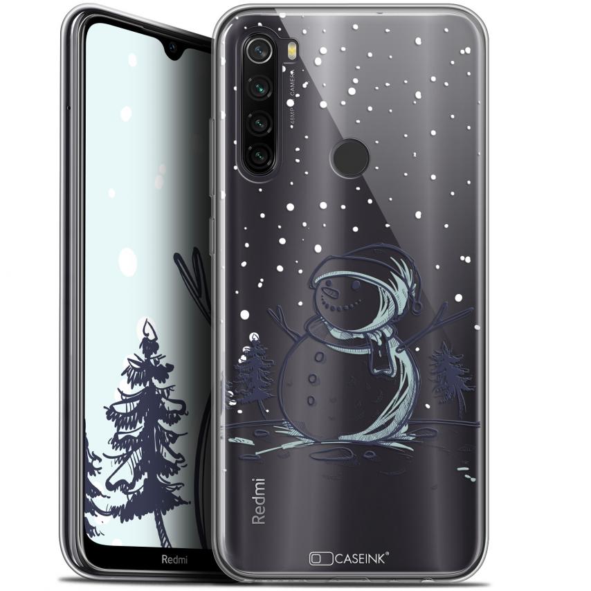 "Coque Gel Xiaomi Redmi Note 8T (6.3"") Extra Fine Noël 2017 - Bonhomme de Neige"