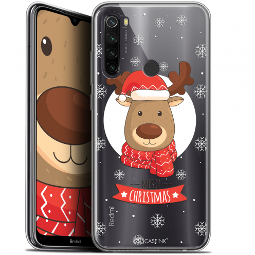 """Coque Gel Xiaomi Redmi Note 8T (6.3"""") Extra Fine Noël 2017 - Cerf à Echarpe"""