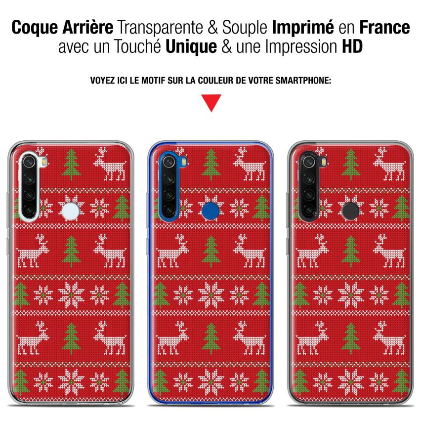 """Coque Gel Xiaomi Redmi Note 8T (6.3"""") Extra Fine Noël 2017 - Couture Rouge"""