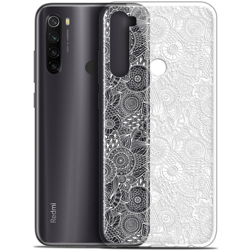 "Coque Gel Xiaomi Redmi Note 8T (6.3"") Extra Fine Dentelle Florale - Blanc"