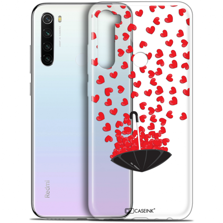 "Coque Gel Xiaomi Redmi Note 8T (6.3"") Extra Fine Love - Parapluie d'Amour"