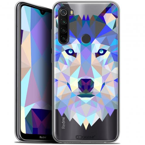 "Coque Gel Xiaomi Redmi Note 8T (6.3"") Extra Fine Polygon Animals - Loup"