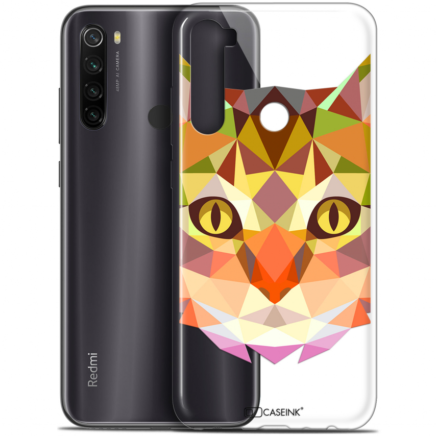 "Coque Gel Xiaomi Redmi Note 8T (6.3"") Extra Fine Polygon Animals - Chat"