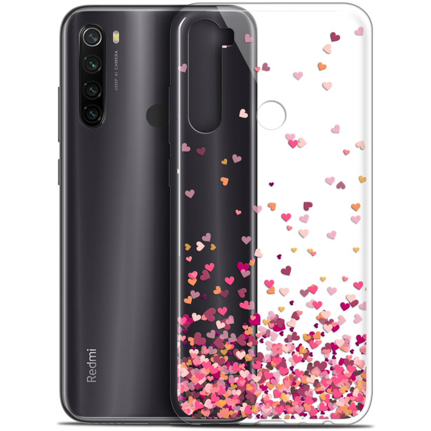 "Coque Gel Xiaomi Redmi Note 8T (6.3"") Extra Fine Sweetie - Heart Flakes"