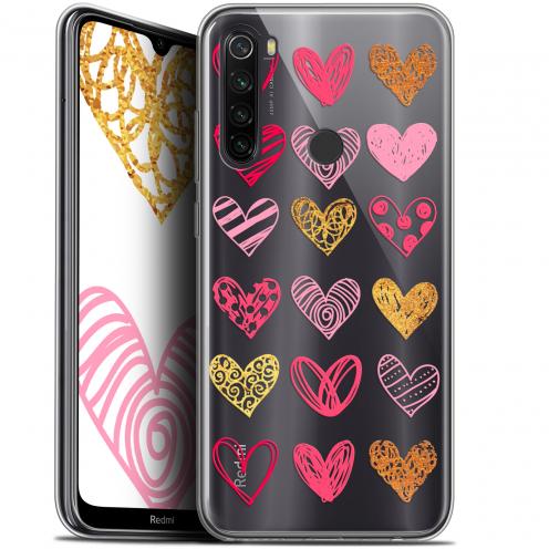 """Coque Gel Xiaomi Redmi Note 8T (6.3"""") Extra Fine Sweetie - Doodling Hearts"""