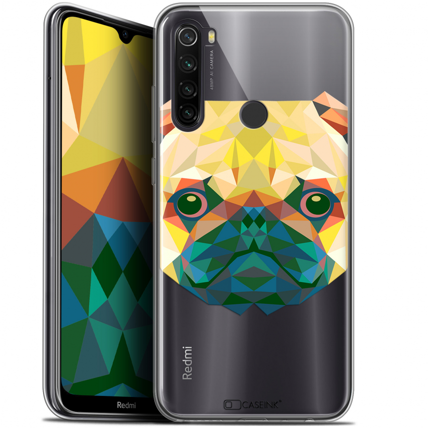 "Coque Gel Xiaomi Redmi Note 8T (6.3"") Extra Fine Polygon Animals - Chien"