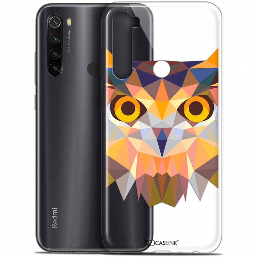 "Coque Gel Xiaomi Redmi Note 8T (6.3"") Extra Fine Polygon Animals - Hibou"