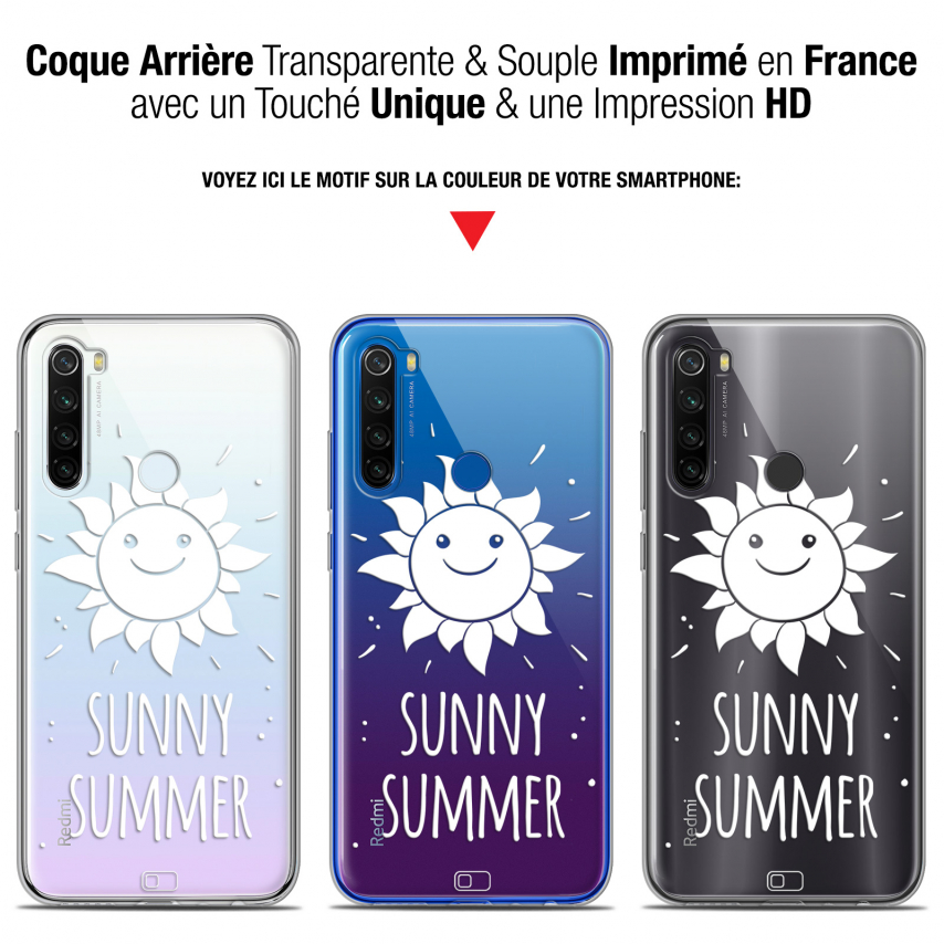 "Coque Gel Xiaomi Redmi Note 8T (6.3"") Extra Fine Summer - Sunny Summer"