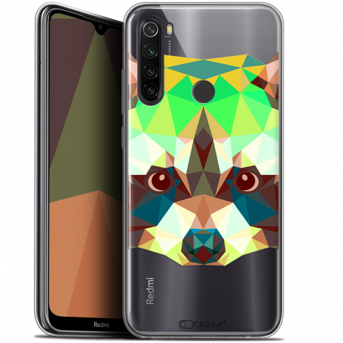 "Coque Gel Xiaomi Redmi Note 8T (6.3"") Extra Fine Polygon Animals - Raton Laveur"