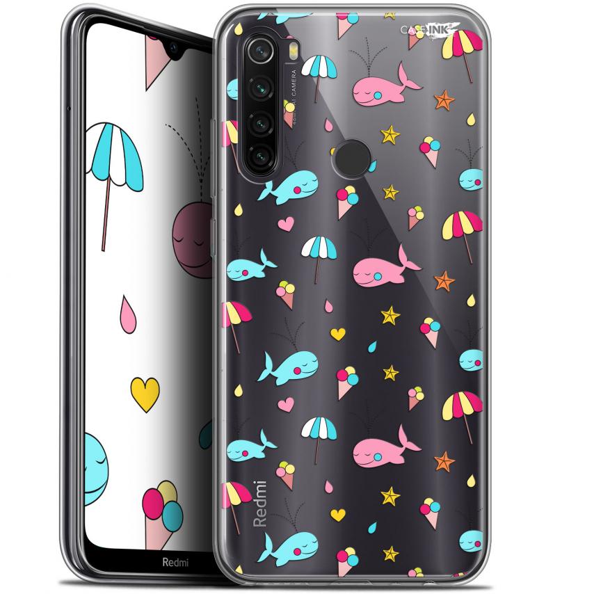 """Coque Gel Xiaomi Redmi Note 8T (6.3"""") Extra Fine Motif - Baleine à la Plage"""
