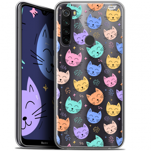 "Coque Gel Xiaomi Redmi Note 8T (6.3"") Extra Fine Motif - Chat Dormant"