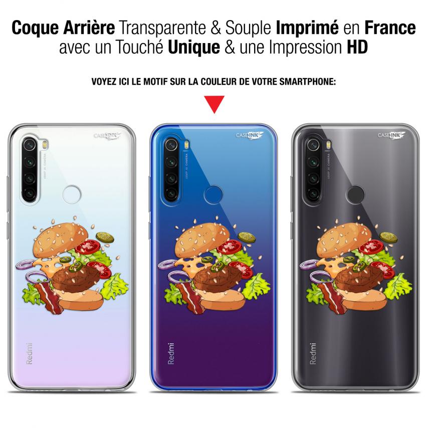 "Coque Gel Xiaomi Redmi Note 8T (6.3"") Extra Fine Motif - Splash Burger"