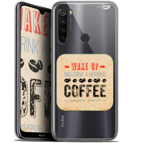 "Coque Gel Xiaomi Redmi Note 8T (6.3"") Extra Fine Motif - Wake Up With Coffee"