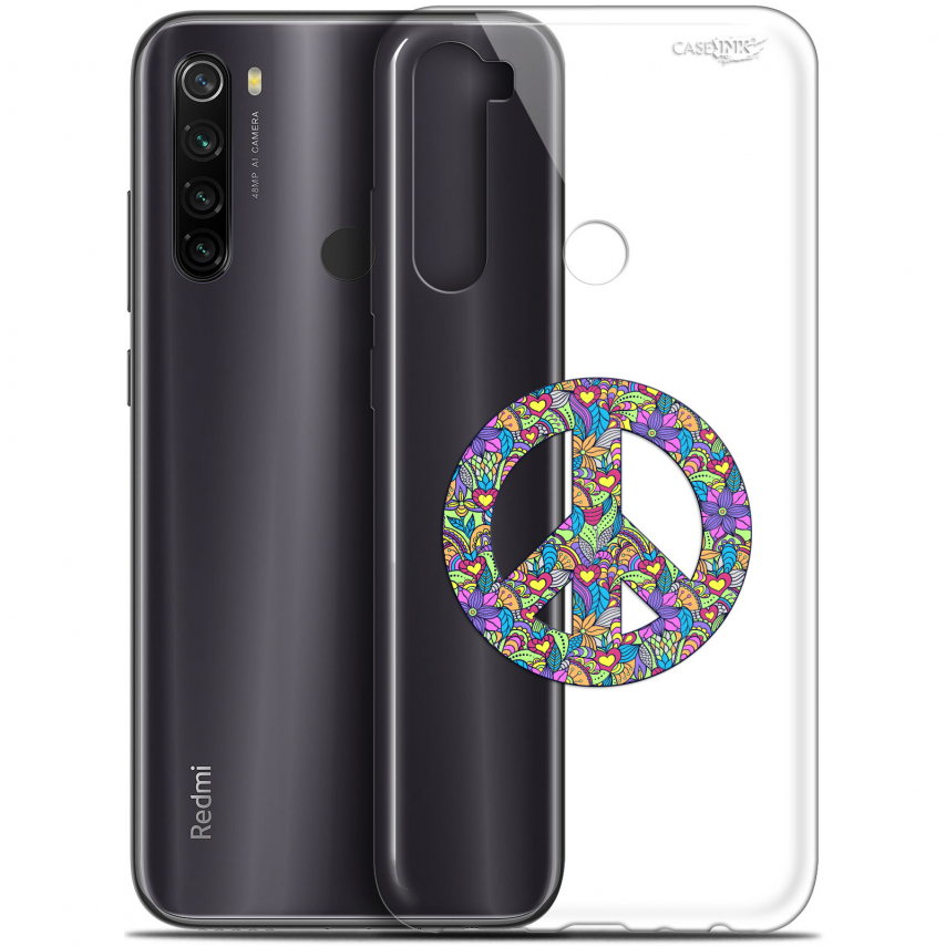 "Coque Gel Xiaomi Redmi Note 8T (6.3"") Extra Fine Motif - Peace And Love"