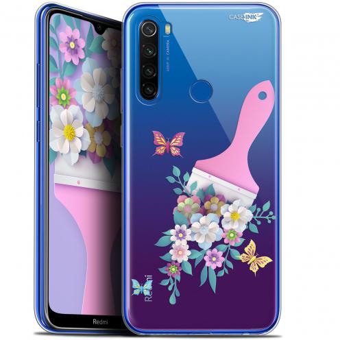 """Coque Gel Xiaomi Redmi Note 8T (6.3"""") Extra Fine Motif - Pinceau à Fleurs"""