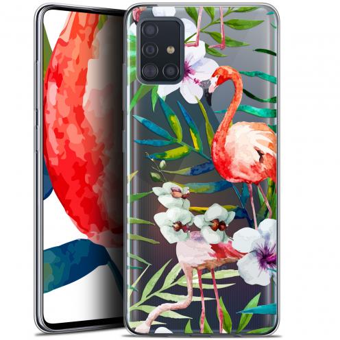 """Coque Gel Samsung Galaxy A51 (A515) (6.5"""") Extra Fine Watercolor - Tropical Flamingo"""