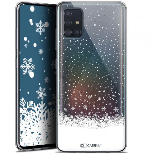 "Coque Gel Samsung Galaxy A51 (A515) (6.5"") Extra Fine Noël 2017 - Flocons de Neige"
