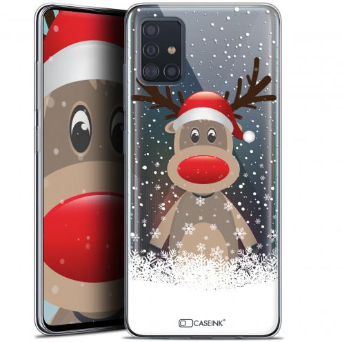 """Coque Gel Samsung Galaxy A51 (A515) (6.5"""") Extra Fine Noël 2017 - Cerf au Bonnet"""