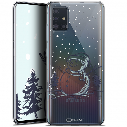"Coque Gel Samsung Galaxy A51 (A515) (6.5"") Extra Fine Noël 2017 - Bonhomme de Neige"