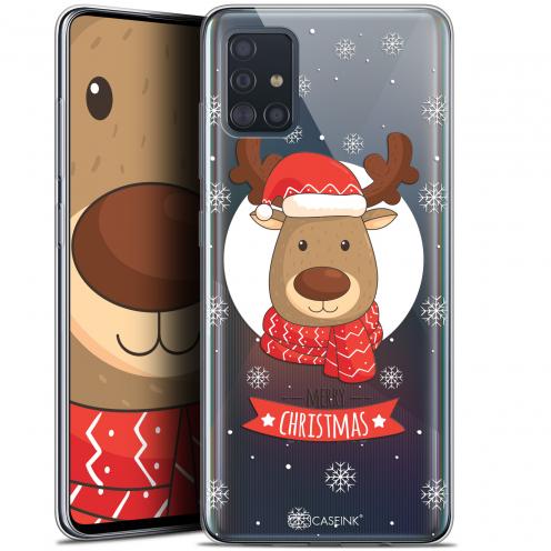 "Coque Gel Samsung Galaxy A51 (A515) (6.5"") Extra Fine Noël 2017 - Cerf à Echarpe"