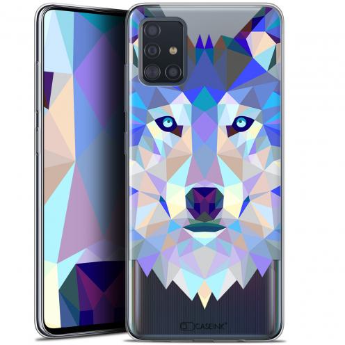 """Coque Gel Samsung Galaxy A51 (A515) (6.5"""") Extra Fine Polygon Animals - Loup"""