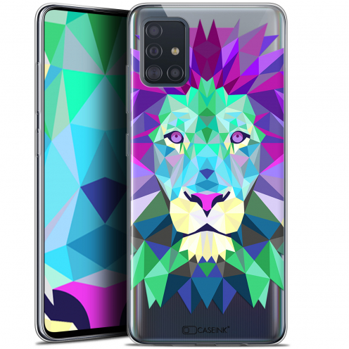"""Coque Gel Samsung Galaxy A51 (A515) (6.5"""") Extra Fine Polygon Animals - Lion"""