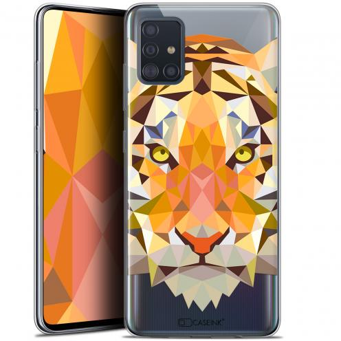 "Coque Gel Samsung Galaxy A51 (A515) (6.5"") Extra Fine Polygon Animals - Tigre"