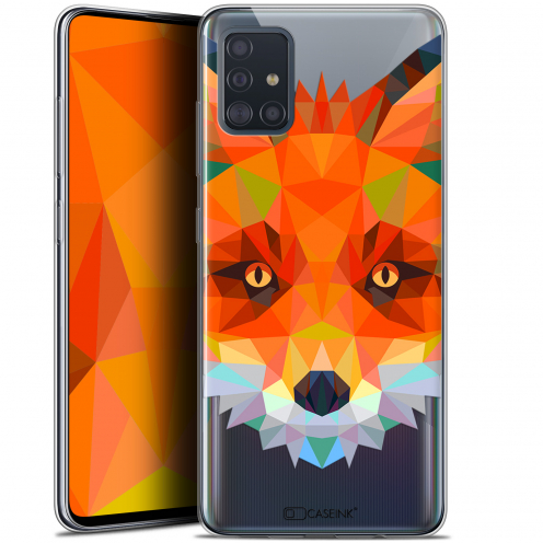 "Coque Gel Samsung Galaxy A51 (A515) (6.5"") Extra Fine Polygon Animals - Renard"