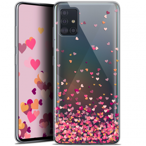 "Coque Gel Samsung Galaxy A51 (A515) (6.5"") Extra Fine Sweetie - Heart Flakes"