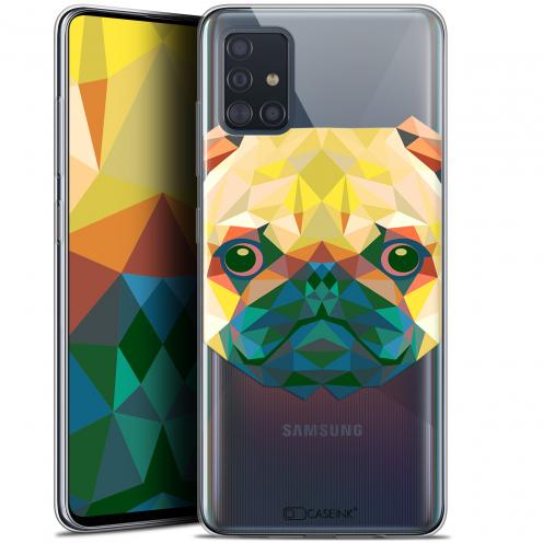 """Coque Gel Samsung Galaxy A51 (A515) (6.5"""") Extra Fine Polygon Animals - Chien"""