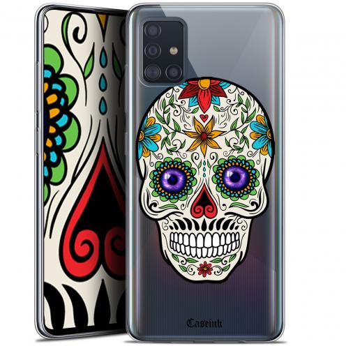 """Coque Gel Samsung Galaxy A51 (A515) (6.5"""") Extra Fine Skull - Maria's Flower"""